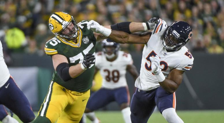 National Football League notebook: Rodgers leaves with leg injury
