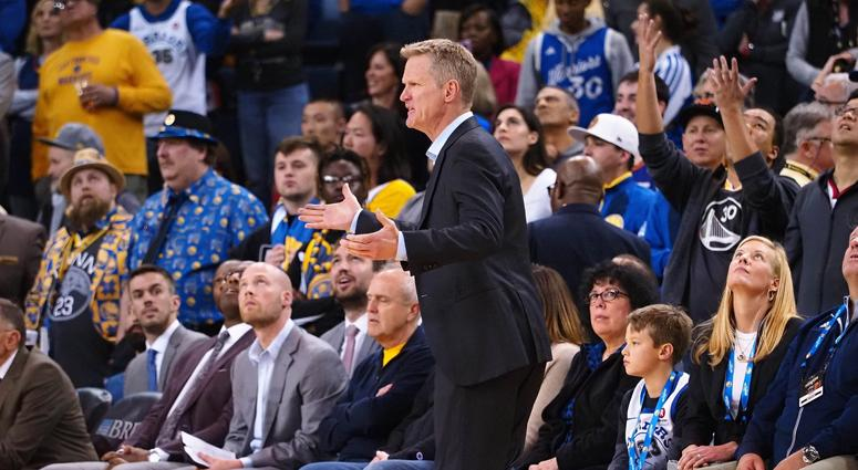 Steve Kerr laughs off lipreading criticism of Green