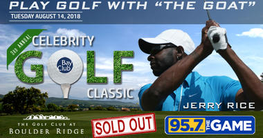 Listen to 95.7 The GAME for your chance to play golf with Jerry Rice