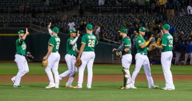 The A's are barreling into October and a playoff game in Oakland