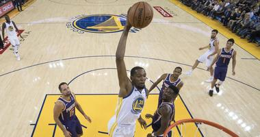 Listen to 95.7 The Game on Black Friday to win Warriors Courtside Club tickets