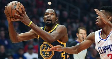 Warriors fall to the Clippers despite a big game from Kevin Durant