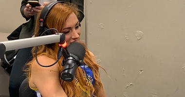 WWE's Becky Lynch crashes 95.7 The Game studios
