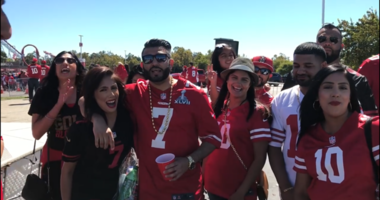 Fans filled Levi's excited to see Jimmy G!