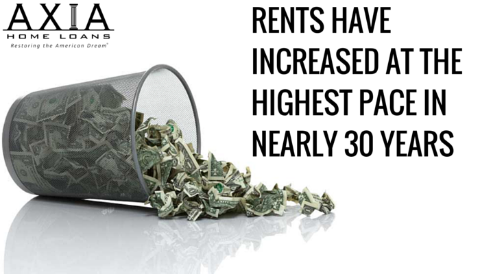 Rents Have Increased at the Highest Pace in Nearly 30 Years
