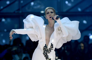 Celine Dion performs during the 2017 Billboard Music Awards