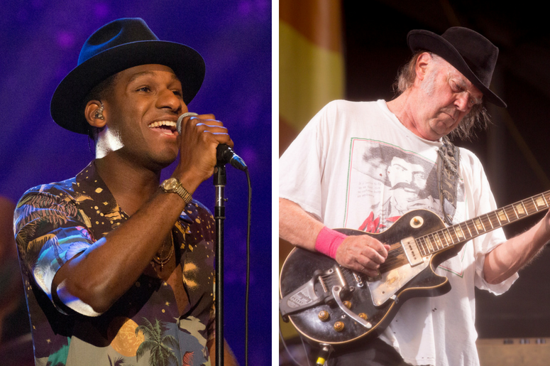 Leon Bridges and Neil Young