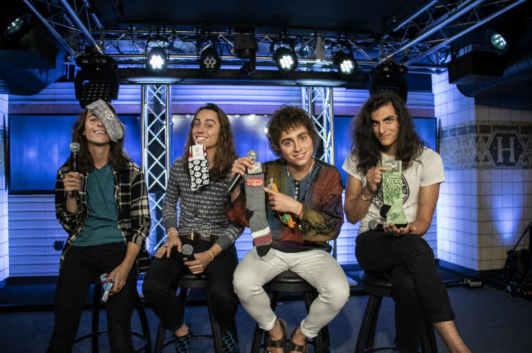 radio.com gave Greta Van Fleet socks!