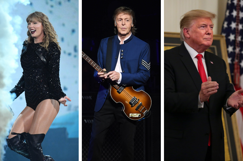 Taylor Swift, Paul McCartney, and Donald Trump