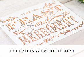 Letterpress Reception and Event Decor