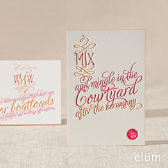 Inkwell Reception Card