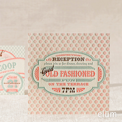 Sweet Shoppe Reception Card