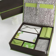 Woodgrain Desk Set