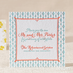 Poppies & Posies Reception Card