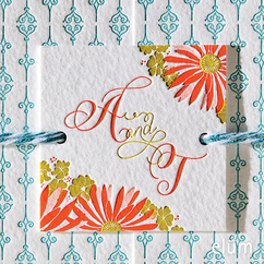 Poppies & Posies Favor Tag
