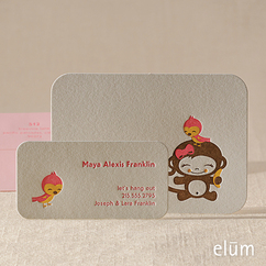 Chunky Monkey Social Note with Playdate Card (for her)