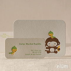 Chunky Monkey Social Note with Playdate Card (for him)