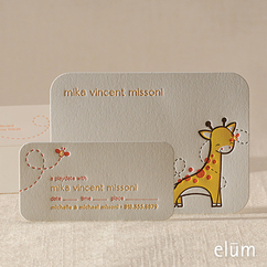 Tiny Giraffe Social Note with Playdate Card (for him)