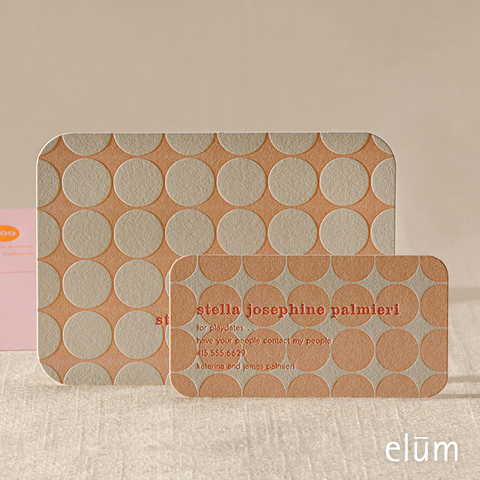 Polka Dots Social Note with Playdate Card (pink)