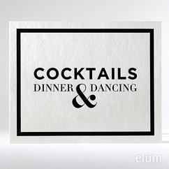 Classic B&W Reception Sign