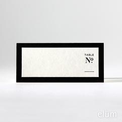 Classic B&W Escort Cards