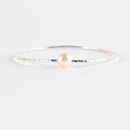 Freshwater Pearl  Bangle Silver