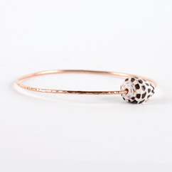 Hebrew Cone Shell Bangle Rose Gold