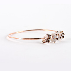 Puka Shell Trio Bangle Rose Gold