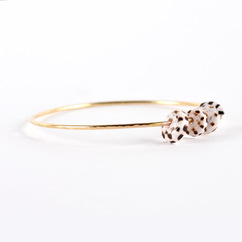Puka Shell Trio Bangle Gold