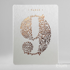 Filigree Table Numbers