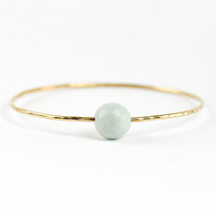 Matte Amazonite Bangle Gold