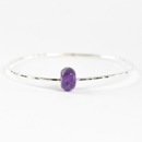 Faceted Amethyst Silver