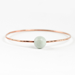 Faceted Amazonite Bangle Rose Gold