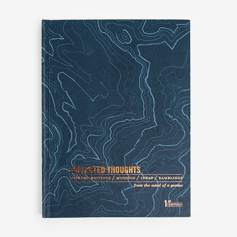 Space Map Hardcover Journal