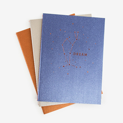 3 Pack Paper Constellation Journals