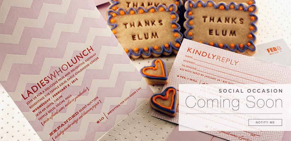 Letterpress Social Occasion Invitations