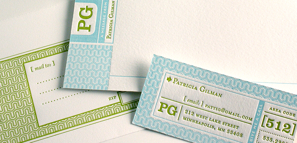 Letterpress Personal Stationery