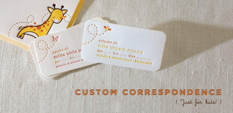 Custom Correspondence for Kids