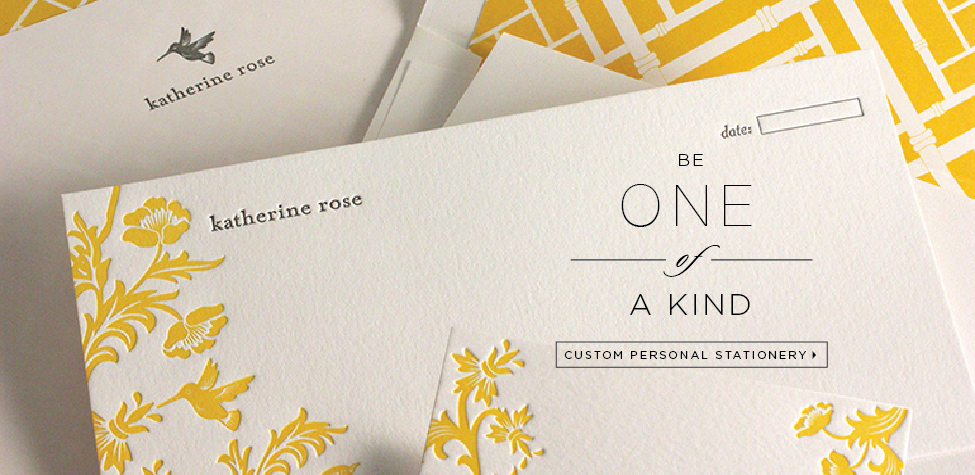 Custom Personal Stationery