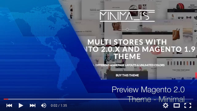 Video Preview Magento 2.0 Theme - Minimal