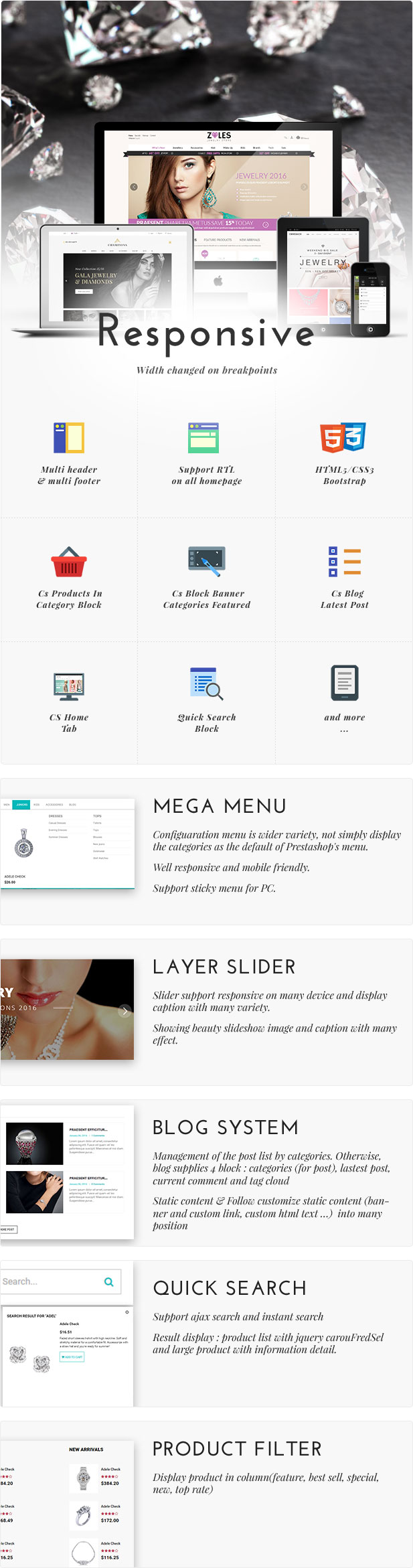 Zales |  Beauty & Jewelry Diamond Rings Responsive Prestashop Theme