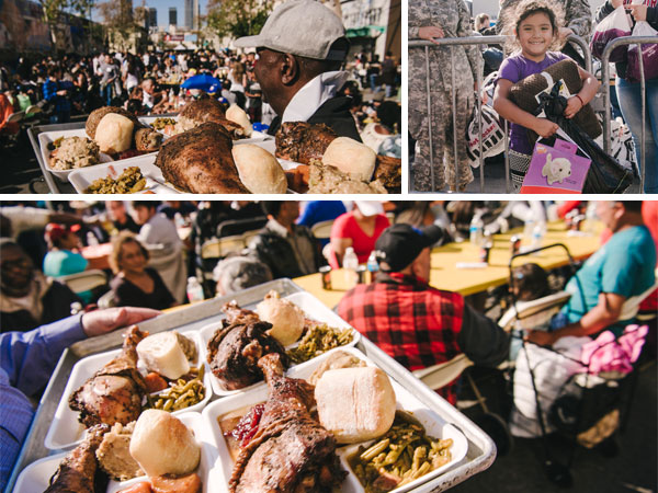 Thankgiving 2018 in Downtown Los Angeles, Feeding the Poor