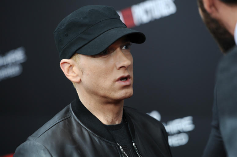 "Eminem attends the ""SouthPaw"" premiere at the AMC Loews Lincoln Square theatre in New York, NY, on July 20, 2015."