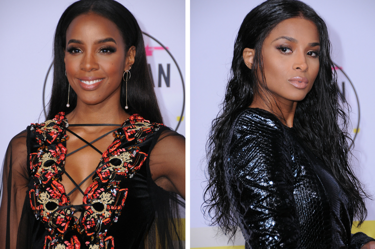 Kelly Rowland / Ciara / 2017 American Music Awards held at Microsoft Theater in Los Angeles.