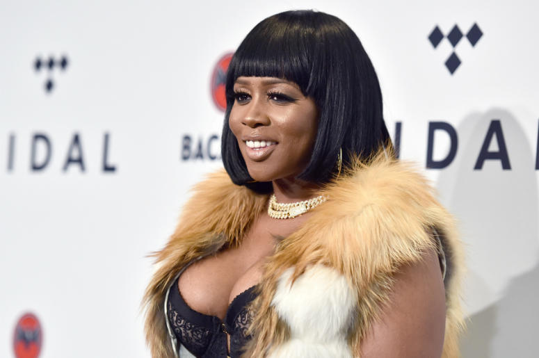 "Remy Ma attends ""TIDAL X: Brooklyn"" at the Barclays Center in the New York City borough of Brooklyn in New York, NY, on October 17, 2017"