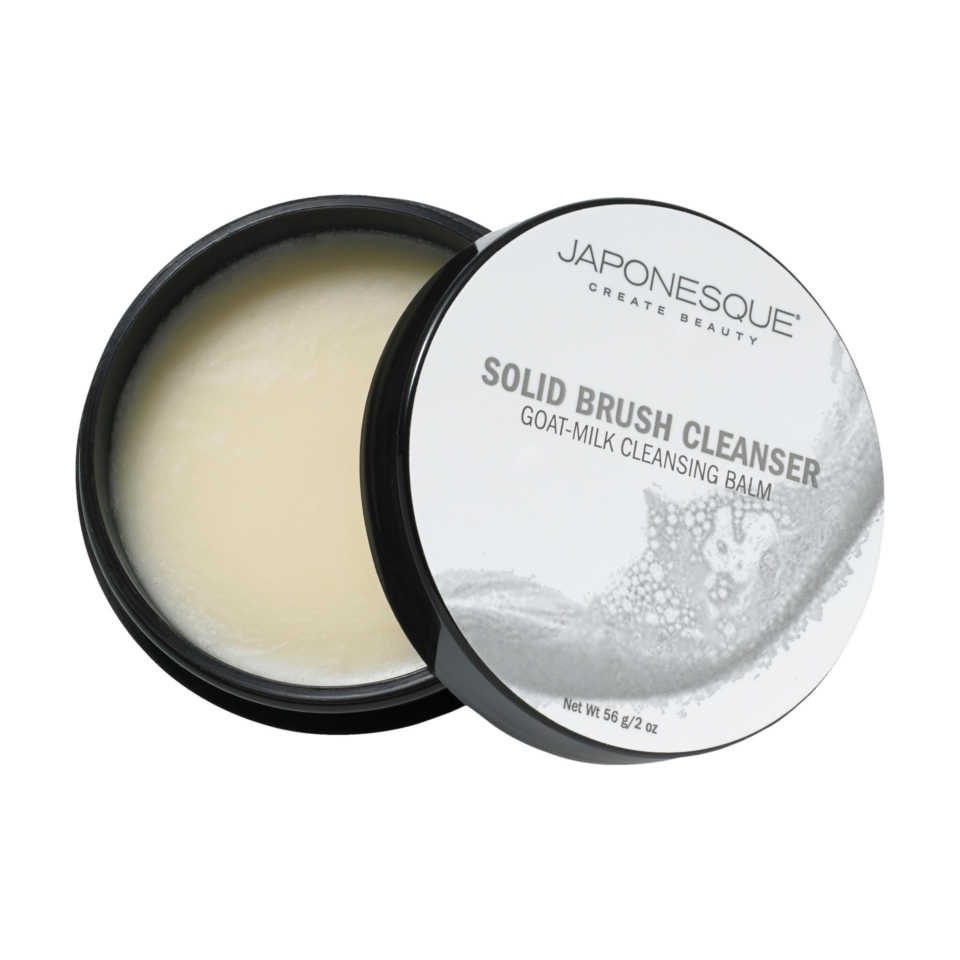 Japonesque Solid Brush Cleanser 2 oz Goat-Milk Cleansing Balm