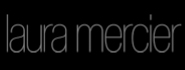Laura Mercier logo on a black background; Laura Mercier is a brand partner of Japonesque..
