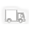Supply chain truck outline computer icon