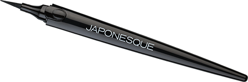 The Japonesque Color Kumadori Felt Tip Liner is a dark black eyeliner that is perfect for creating a sharp line for the perfect winged eyeliner look.