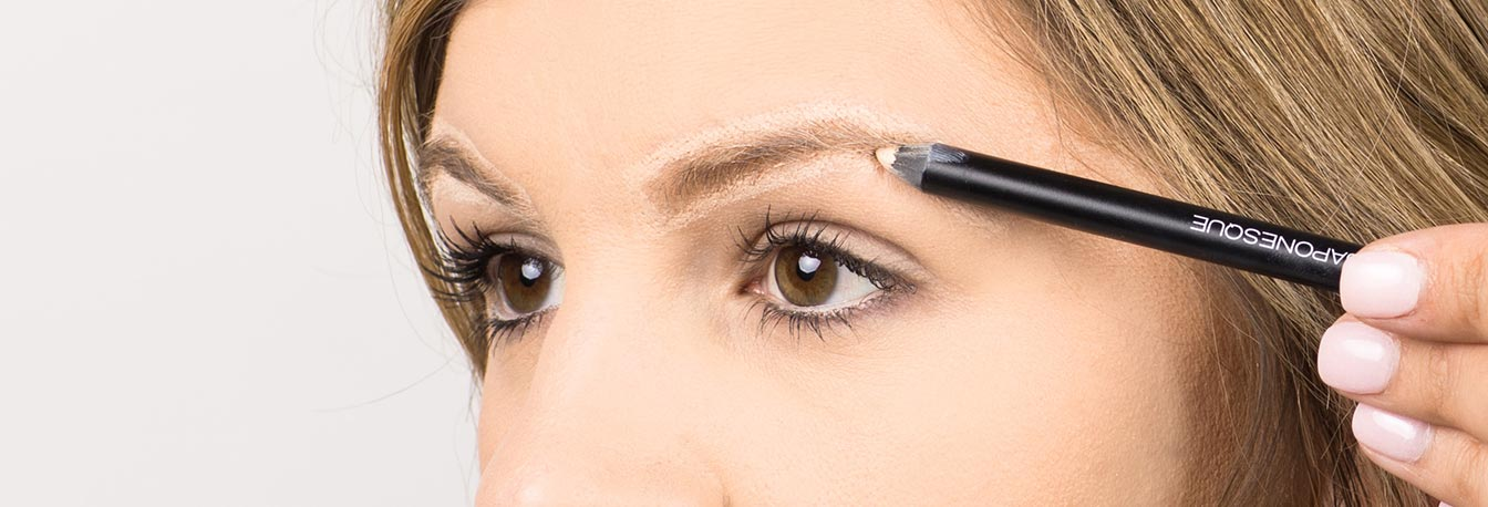 Full Brows- Outline shape using Japonesque eye pencil